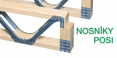 dřevěné nosníky, POSI nosníky, nosníky podlahy, stropnice